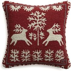 """Crate & Barrel Donner 18"""" Pillow with Down-Alternative Insert"""