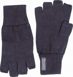 £5 MENS+THERMAL+THINSULATE+KNITTED+FINGERLESS+GLOVES+WINTER+WARM+WOOLLY+MITTS