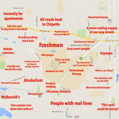 30 Best Judgmental Maps of College Campuses images in 2016 | Blue ...