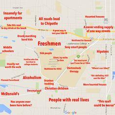 Western Michigan University: http://theblacksheeponline.com/western-michigan/the-black-sheeps-judgmental-map-of-kalamazoo
