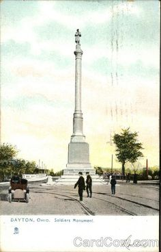 Soldiers Monument Dayton Ohio: My grandfather was on of the ironworkers that helped move this monument in my father and uncle were some of the ironworkers who helped move the monument it its current location at main and monument ~ev Buckeye Nut, The Buckeye State, Ohio Buckeyes, Dayton Ohio, My Kind Of Town, Current Location, Graveyards, Abandoned Homes, Road Trippin