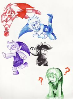 Four Swords by LittleGreenHat