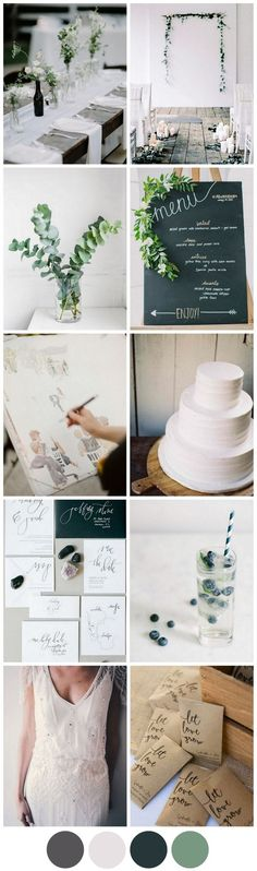 "Minimalism is so in. If your a fan of this trend, check out our ""Minimalist Weddings"" board!"