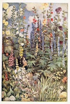 The Flowers - Illustration by Jessie Willcox Smith,1905,A Child's Garden of Verse/Courtesy Ctgpublishing.com
