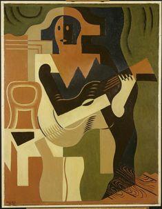 Arlequin à la guitare Gris Juan (dit), Gonzales Perez Jose Victoriano (1887-1927 Réunion des Musées Nationaux-Grand Palais -