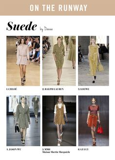 TREND ALERT SPRING 2015: SUEDE/ANTE  Check out the post at WWW.INFLUENCERDIARIES.COM