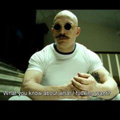 Tom Hardy as Bronson.