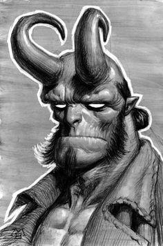 hellboy  comics  art  illustration  sketch  drawing  Matt Buck