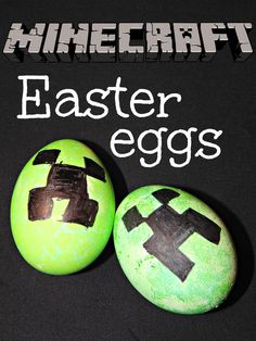 A crafty twist on an original, check out how to make Minecraft Creeper Easter Eggs with Hallecake! Easter Egg Dye, Easter Egg Crafts, Bunny Crafts, Cute Crafts, Easter Bunny, Crafts For Kids, Easter Stuff, Easter Cake, Diy Crafts