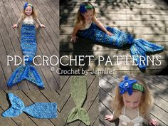Set of 3 Crochet Patterns for Mermaid Tail, Headband, and Shell Bikini Top Photography Props Patterns available at Jennifer's Etsy: http://www.etsy.com/listing/79977534/set-of-3-crochet-patterns-for-mermaid