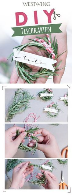 You want original place cards for a Christmas … - Diy Winter Deko Christmas Place Cards, Merry Christmas Happy Holidays, Christmas Mood, Christmas Music, Wooden House Decoration, Decoration Christmas, Decoration Table, Advent Wreath, Diy Wreath
