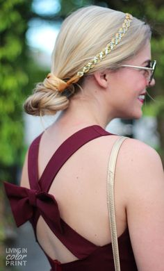 Garnet Bow Back Dress