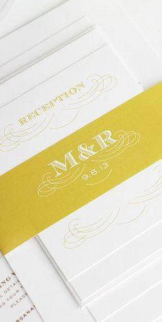 monogram detail // shine wedding invitations