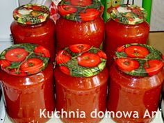 Kuchnia domowa Ani: Szybki przecier pomidorowy Ketchup, Salsa, Jar, Food, Diy, Ideas, Essen, Salsa Music, Meals