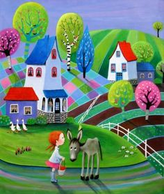 """Saatchi Art Artist Iwona Lifsches; Painting, """"Little Snack for a Donkey,  SOLD"""" #art"""