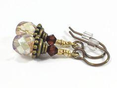 Caramel Soul beaded dangle earrings.  Handcrafted earrings.  Wow!  $23.00