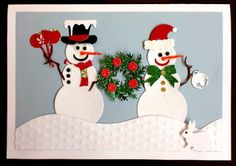 Charmingly Creative: Snow People Greeting