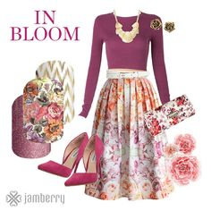 Jamberry In Bloom! #jn #inbloom #floral #flowers #jamberry #jamberrynails #nailart #nailwraps #nails #madeintheus #spring #summer Autumn Inspiration, Style Inspiration, Jamberry Nail Wraps, Jamberry Style, What's Your Style, Real Style, Material Girls, Signature Style, Cute Outfits