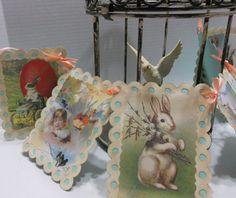 Vintage Easter banner Garland Spring Easter by Sharingsister, $12.00