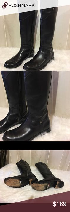 FRYE Melissa Tall Shaft Boots FRYE Melissa  Style: #3470110 Size: 6 Black zipper on the inside of the shaft leather tall authentic no box  Retail $428 + tax ....only wore a few times  ___________________________________________ Frye Shoes