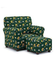 Look at this #zulilyfind! Green Bay Packers Club Chair & Ottoman by Imperial International #zulilyfinds