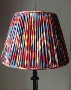 Hand made, silk lined Sherman ikat shade from www.susandeliss.com