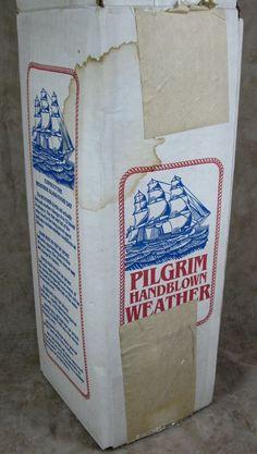 Vintage Pilgrim Hand Blown Weather Glass Water Barometer New In Box Unused