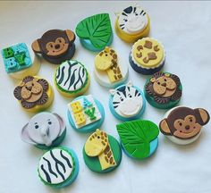 1 Doz. Jungle Themed Chocolate Covered Oreos - Birthday - Baby Shower by MarshmallowSugar on Etsy