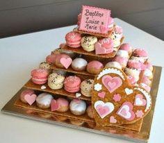 Pièces montées - Le méli mélo choux-macarons - Le Macaron Bleu - Artisan Pâtissier - Boulanger - Bezannes