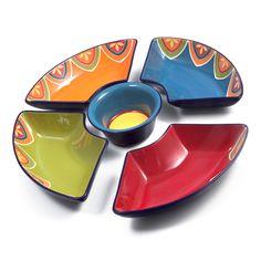 Jogo 5 Peças Petisqueira Cerâmica México