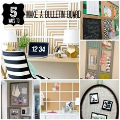 Five DIY Bulletin Board Ideas --- Perfect for taming back-to-school paper clutter!