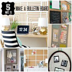 Five DIY Bulletin Board Ideas