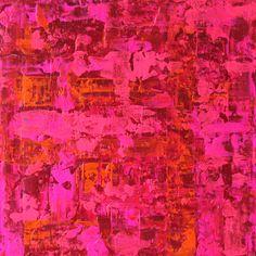 Bild Abstrakt auf Leinwand 40x40 cm rosa von AtelierMaltopf auf Etsy, $65.00