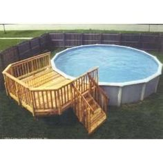 pool decks for above ground pools for small backyards - Google Search