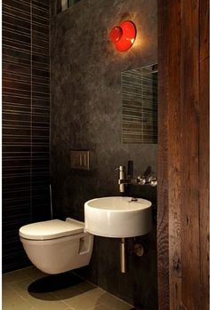 Wall mounted toilet saves space