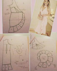 Suknja na preklop s volanom - Salvabrani - Salvabrani Skirt Patterns Sewing, Sewing Patterns Free, Clothing Patterns, Fashion Sewing, Diy Fashion, Sewing Clothes, Diy Clothes, Costura Fashion, Pattern Cutting