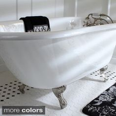 Unwind and relax in this gorgeous old world style cast iron clawfoot tub. This 54-inch tub is constructed from cast iron for durability and heat retention for long, luxurious soaks. Enjoy details like