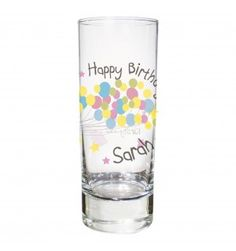 Birthday Balloon Shot Glass | Glassware | Exclusively Personal