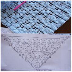 Beautiful shawl pattern. It reminds me of little hearts (from lemondedesucrette blog).