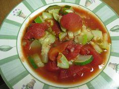 Stewed  Tomatoes and Zucchini. Photo by Charlotte J