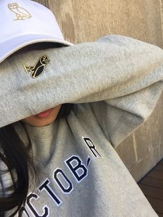 71d0f221fe1c1 sweater ovoxo drake grey sweater ovoxo sweatshirt grey crewneck owl Fashion  Killa