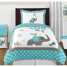 Turquoise Blue Gray and White Mod Elephant Twin Bed Bedding Girl – Favorave Türkis Blau Grau und Weiß Mod Elefant Twin Bed Bedding Girl – Favorave Quilt Baby, Baby Quilt Patterns, Boy Quilts, Elephant Quilts Pattern, Amish Quilts, Owl Patterns, Elephant Comforter, Elephant Throw Pillow, Girl Bedding