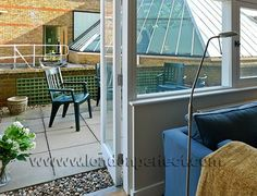 The patio space in the Chelsea Green apartment, our two-bedroom vacation rental property in Chelsea, #London. What a marvellous space to unwind in after a wonderful day out on the Kings Road or Sloane Square. #LondonPerfect