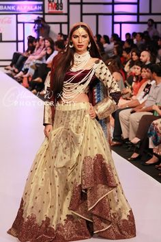 Kuki Concepts Collection at Fashion Pakistan Week (FPW) 2012.  Pakistani bridal