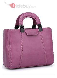 Fashion Solid Color Vintage Tote Bag