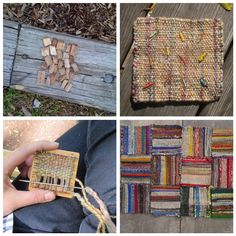 Not excatly embroidery, but love this.Weaving on a little square loom by Jaime Rugh. Pin Weaving, Weaving Art, Tapestry Weaving, Loom Weaving, Art Textile, Weaving Textiles, Weaving Projects, Weaving Techniques, Loom Knitting