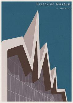 世界的な建築家が設計した美しい博物館・美術館を可能な限り単純化したイラスト「ARCHITECTURE」 - DNA