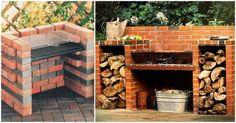 Backyard Fire Pit Bbq Pizza Ovens Ideas For 2019 Backyard Bbq Pit, Backyard Landscaping, Barbecue Ideas Backyard, Bbq Ideas, Outdoor Barbeque, Backyard Movie, Backyard Kitchen, Brick Grill, Wood Grill
