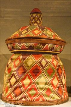 A fine example of Ethiopian basketry produced in the Harar region