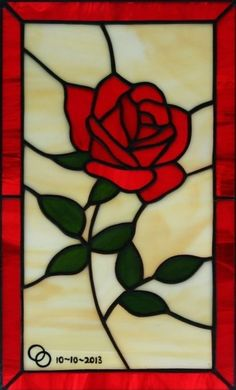 Red Rose Stained Glass